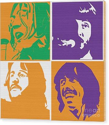 Beatles Vinil Cover Colors Project No.02 Wood Print by Caio Caldas