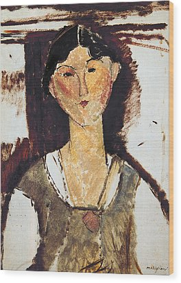 Beatrice Hastings Wood Print by Amedeo Modigliani