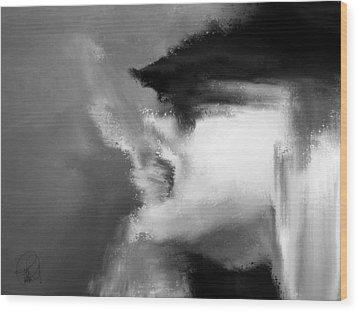 Beau Bella Sexy Smoke Wood Print by Sir Josef - Social Critic - ART