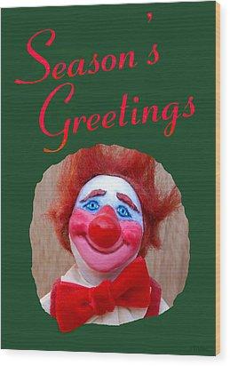 Beau - Season's Greetings Wood Print by David Wiles