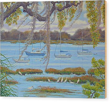 Beaufort Anchorage Wood Print