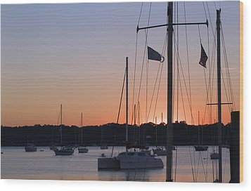 Beaufort Sc Sunset Wood Print