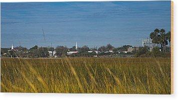 Beaufort Sc Waterfront Wood Print