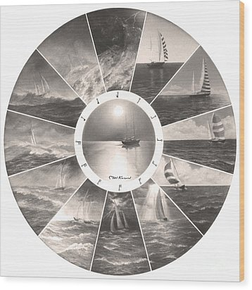 Beaufort Scale Wood Print by Miki Karni
