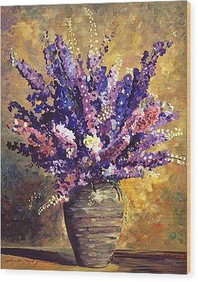 Beaujolais Bouquet Wood Print by David Lloyd Glover