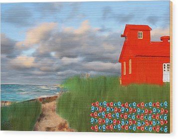 Beautification Of A Lighthouse Wood Print by Bruce Nutting