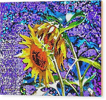 Beautiful And Bright Sunflowers Wood Print