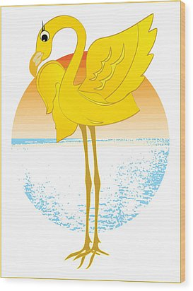 Beautiful Is The Flamingo Wood Print by Stanley Mathis