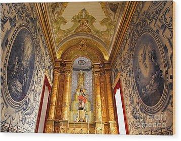 Beautiful Azorean Church Wood Print by Gaspar Avila