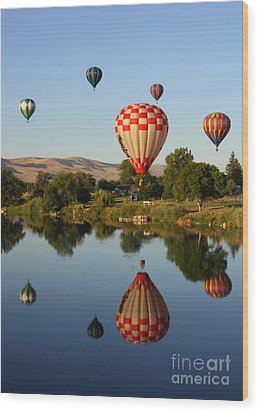 Beautiful Balloon Day Wood Print by Carol Groenen