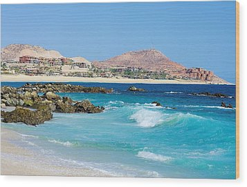 Beautiful Beach On The Sea Of Cortez Wood Print by John  Greaves