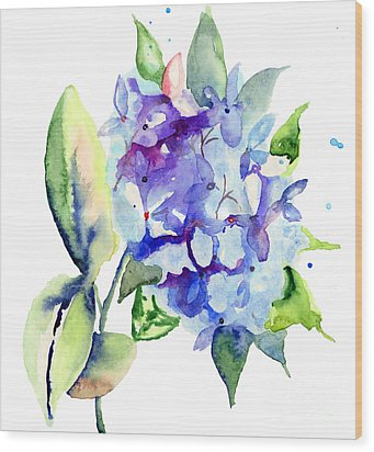 Beautiful Blue Flowers Wood Print
