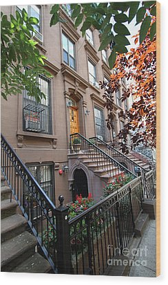 Beautiful Brownstone Home Wood Print