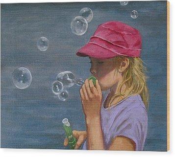 Beautiful Bubbles Wood Print by Joyce Geleynse