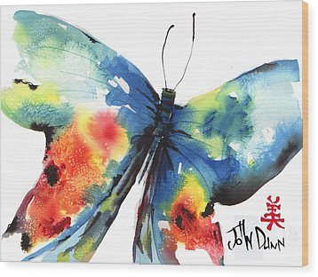 Beautiful Butterfly Wood Print by John Dunn