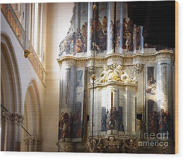 Wood Print featuring the photograph Beautiful Church Interior by Michael Edwards
