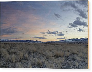 Beautiful Colors Of Sunset At The Reservoir Wood Print by Dana Moyer