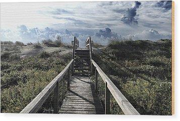 Beautiful Day At Cape Hatteras Wood Print by Patricia Januszkiewicz