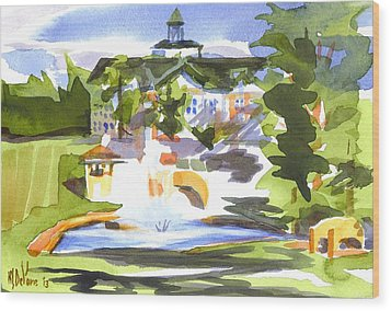 Beautiful Day At The Baptist Home Of The Ozarks In Watercolor Wood Print by Kip DeVore
