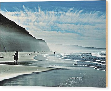 Another Beautiful Day At The Beach Wood Print by Sharon Soberon