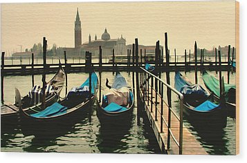 Wood Print featuring the photograph Beautiful Day In Venice by Brian Reaves