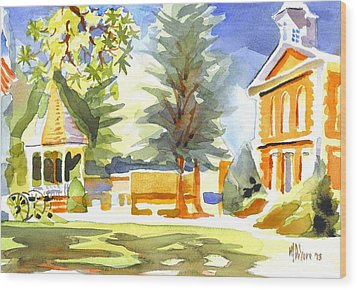 Beautiful Day On The Courthouse Square Wood Print by Kip DeVore