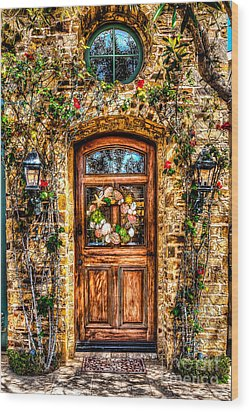 Beautiful Entry Wood Print by Jim Carrell