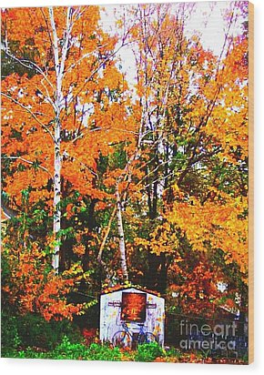 Beautiful Fall Season Wood Print by Rose Wang