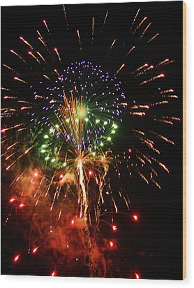 Beautiful Fireworks Works Wood Print