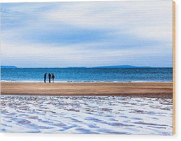 Beautiful Irish Beach On A Winter Day Wood Print by Mark E Tisdale