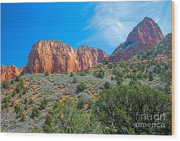Beautiful Kolob Canyon Wood Print by Robert Bales