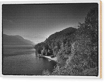 Beautiful Lake George Wood Print by David Patterson