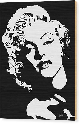 Beautiful Marilyn Monroe Original Acrylic Painting Wood Print by Georgeta  Blanaru