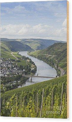 Beautiful Mosel River Wood Print by Patricia Hofmeester