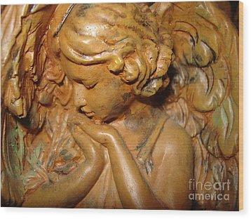 Beautiful Mystic Angel Wood Print