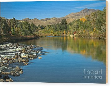 Beautiful Payette River Wood Print by Robert Bales