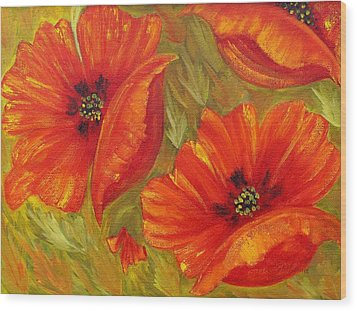 Beautiful Poppies Wood Print