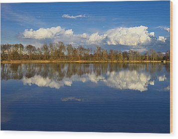 Beautiful Reflection Wood Print by Ivan Slosar