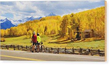 Beautiful Rest Stop Wood Print by Rick Wicker