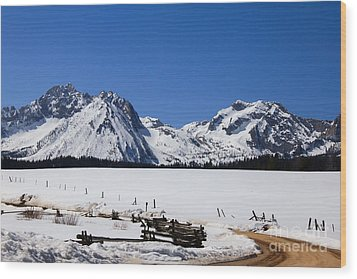 Beautiful Sawtooth Mountains Wood Print by Robert Bales