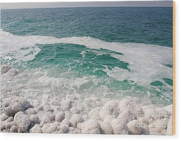 Beautiful Sea Salt Wood Print by Boon Mee