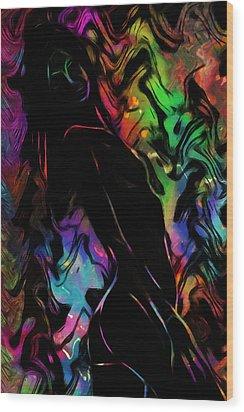 Beautiful Shadow Wood Print by Steve K