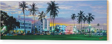 Beautiful South Beach Wood Print by Jon Neidert