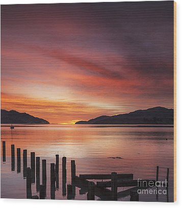 Beautiful Sunrise Wood Print