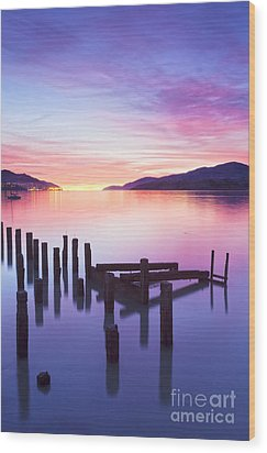 Beautiful Sunset Wood Print by Colin and Linda McKie