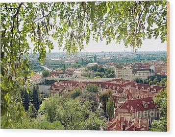 Beautiful View Of Prague Wood Print by Ivy Ho