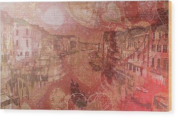 Wood Print featuring the painting Beautiful View Of Italian Silk by Catherine Lott