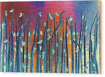 Beautiful Weeds On Venus Wood Print