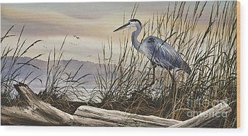 Beauty Along The Shore Wood Print