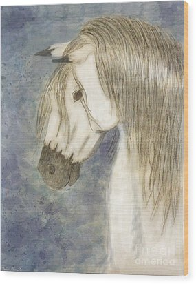 Beauty And Strength1 Wood Print by Debbie Portwood
